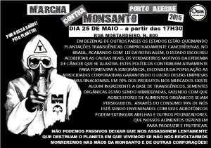 Panfleto Monsanto Marcha